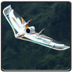 An image of a Sonic64 EDF flying wing